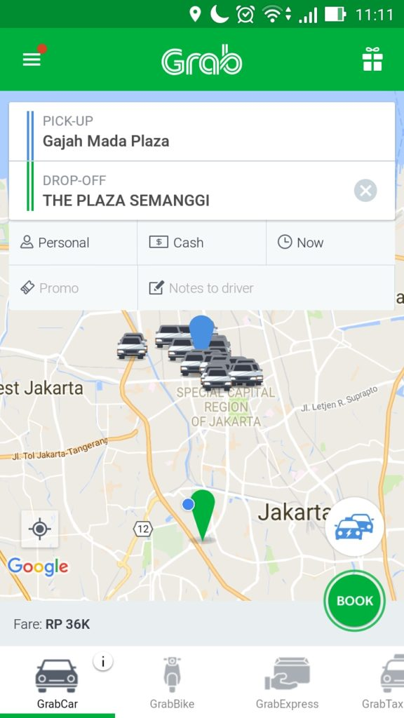 Grab it on google maps grab id new users can enjoy a free ride up google maps will indicate price upon clicking the desired service to idr 75 000 estimated time of arrival and journey publicscrutiny Image collections