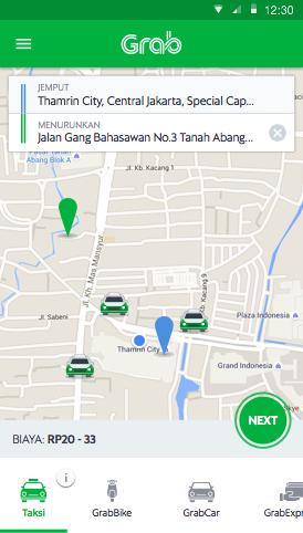 Ride Hailing Mobil Teksi Ojek Nebeng Grab