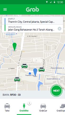 Grabbike Taxibike Ride Booking Application Grab Id