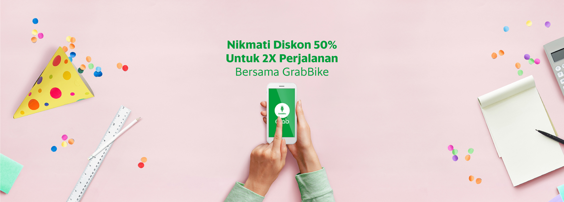 Diskon 50 Untuk 2x Perjalanan Bersama Grabbike Grab Id