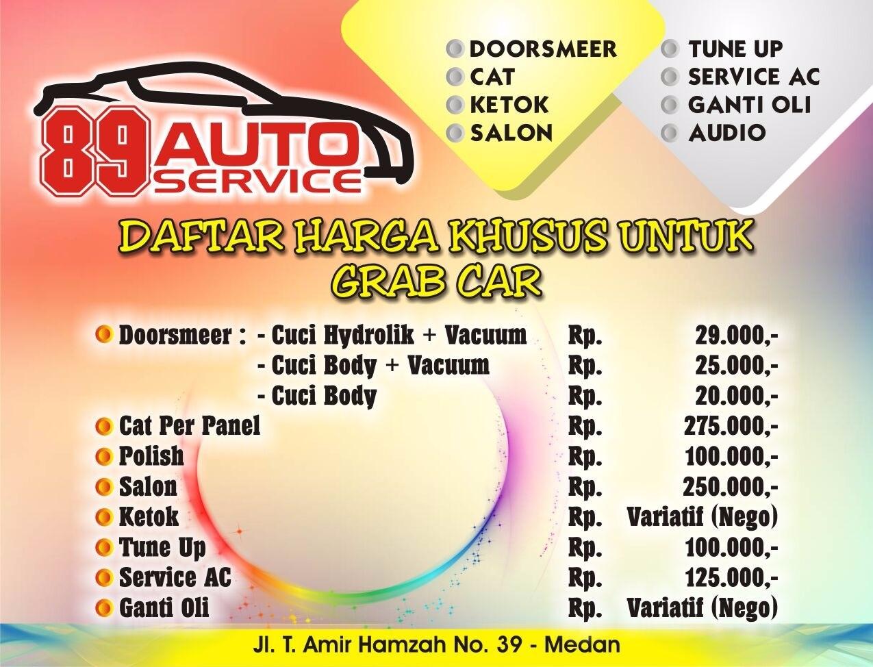 Grabcar Medan Bengkel 89 Auto Service Grab Id