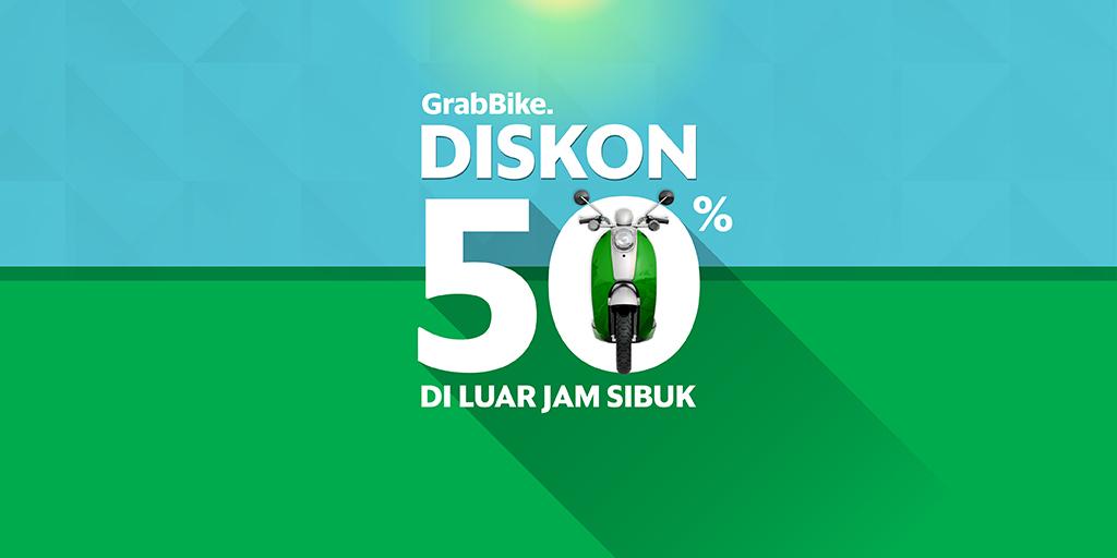 Siang Sore Diskon 50 Pakai Grabbike Grab Id