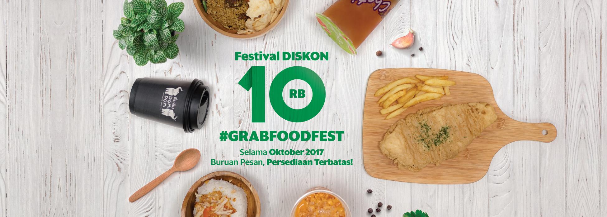 Grabfoodfest Festival Diskon 10ribu Grab Id