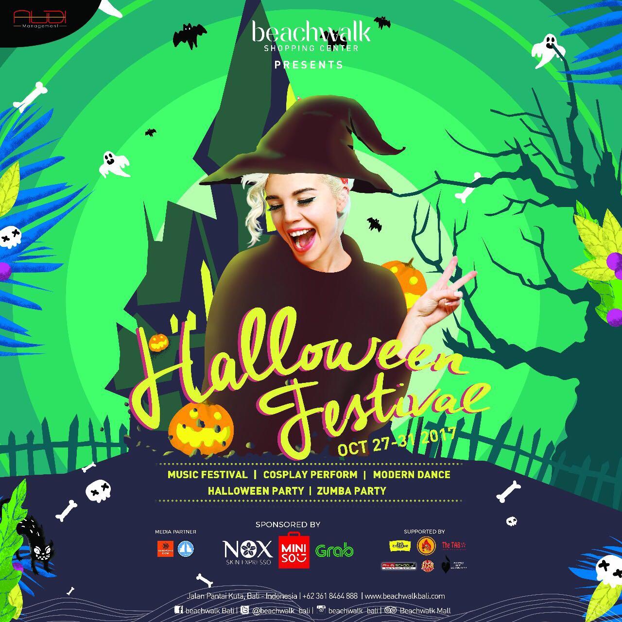 Grab Bali – Beachwalk Halloween Festival