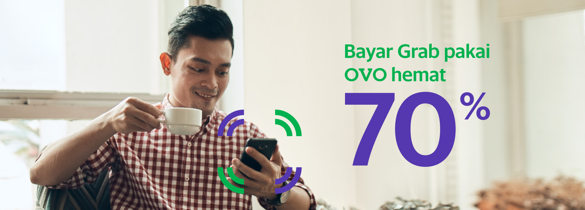 Bayar Grab pakai OVO hemat 70% | Grab ID