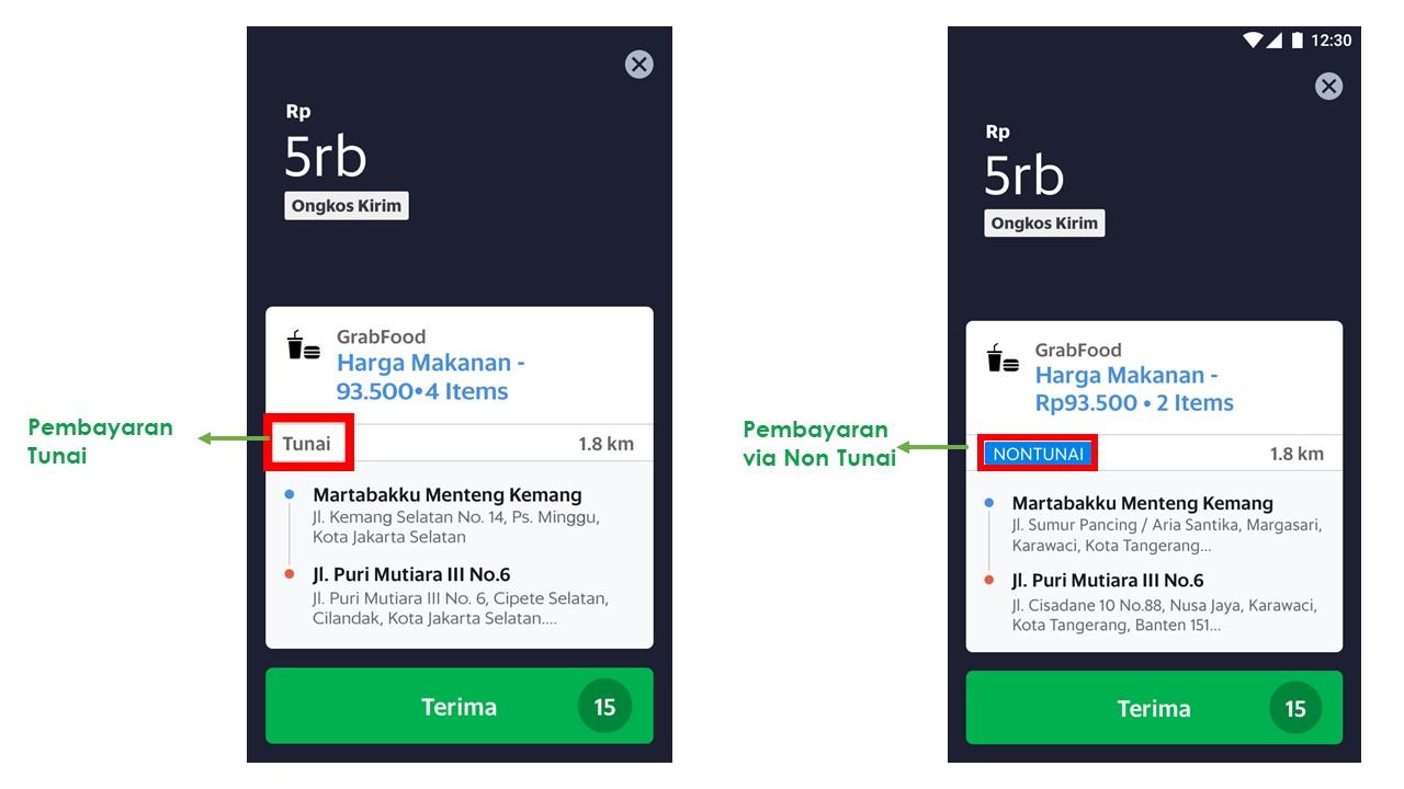 Metode Pembayaran Baru Pada Aplikasi Grabfood Via Non Tunai