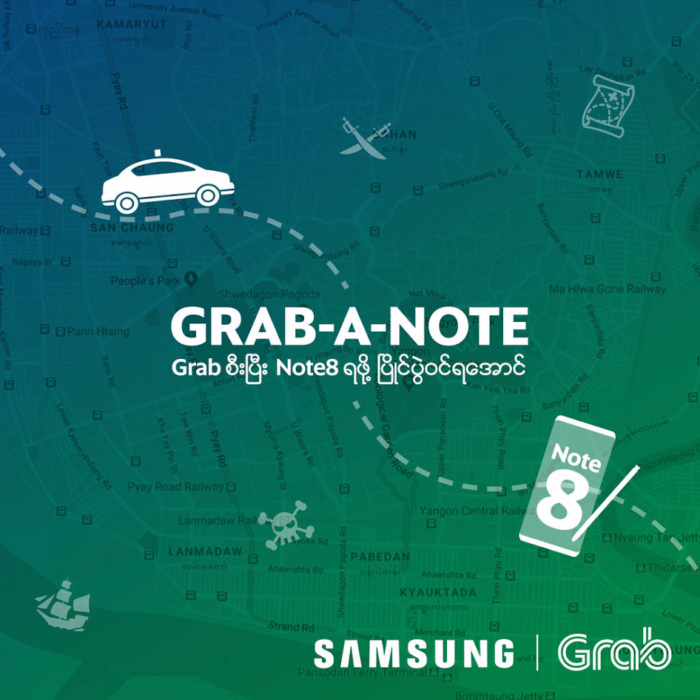 Grab and Samsung Myanmar partner to launch first-ever Grab-A