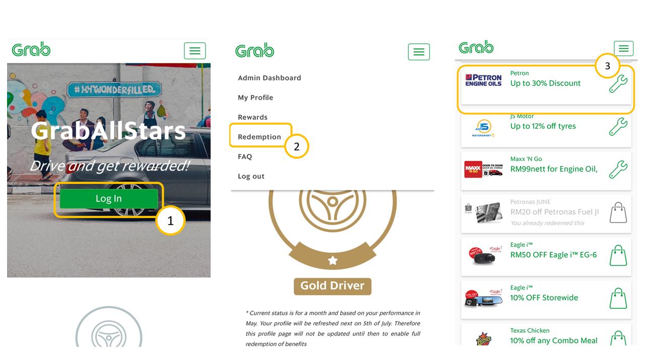 Grab Auto Rewards Redemption | Grab MY