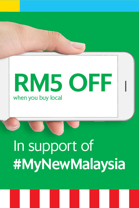 RM5 OFF when you buy local In support of #mynewmalaysia