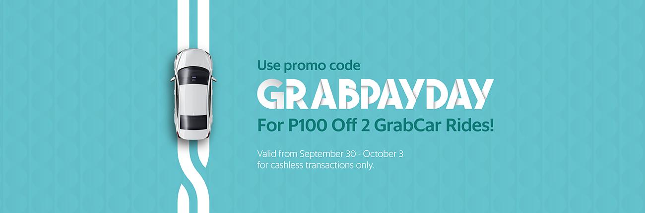 Enjoy P100 Off GrabCar Rides! | Grab PH