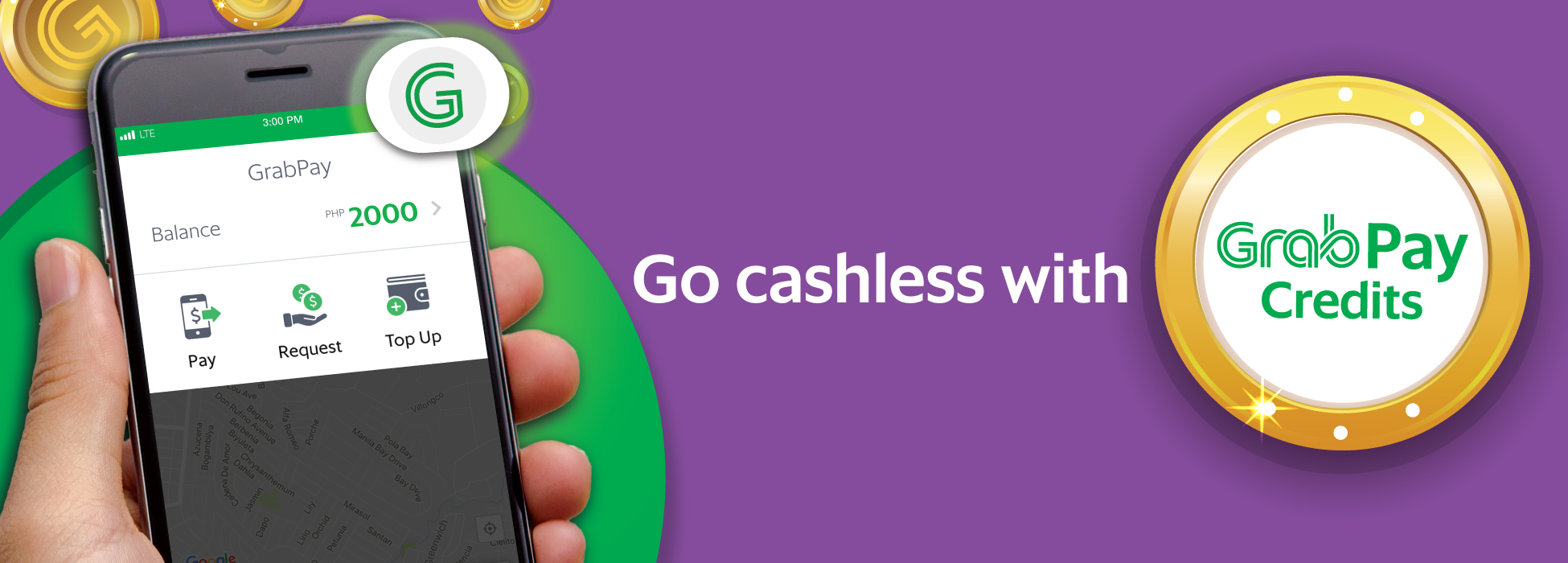 Go cashless with GrabPay Credits! | Grab PH