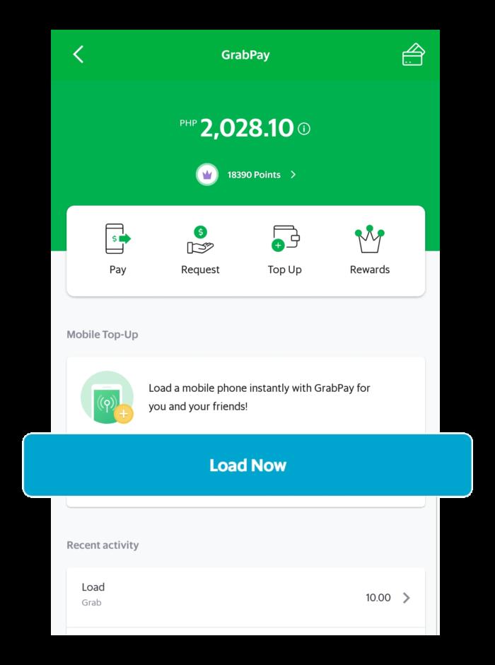 Buy Prepaid Load with GrabPay | Grab PH