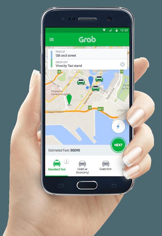 Download Grab App Car Taxi Transportation Service Grab Sg