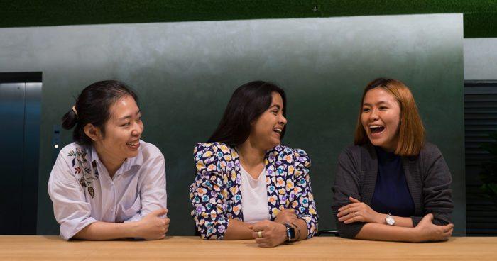Xiaole Kuang, Shivani Mukherjee and Hannah Vergara